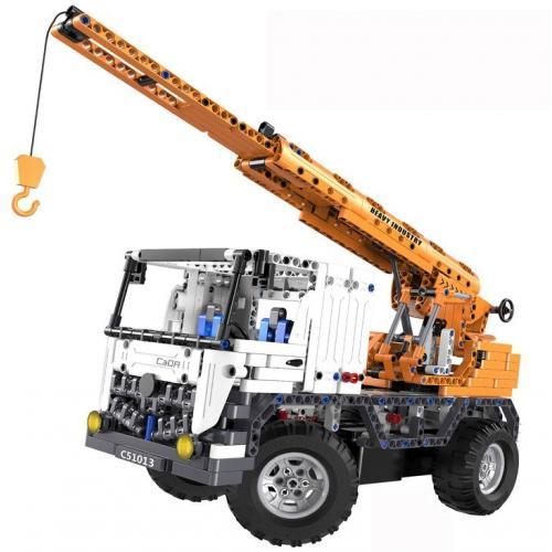 Радиоуправляемый конструктор автокран DE (838 деталей)