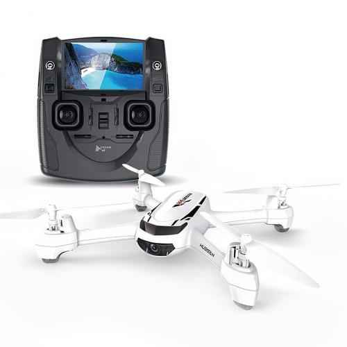 Квадрокоптер с камерой Hubsan FPV 2.4G (видео на пульт, GPS, 16 см)