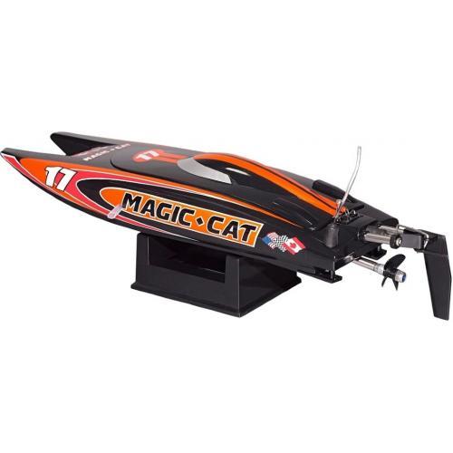 Радиоуправляемый катер JW Magic Cat 2.4G (27 см, до 20 км/ч)