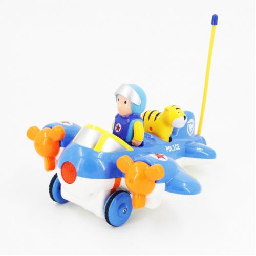 Детский радиоуправляемый синий самолетик