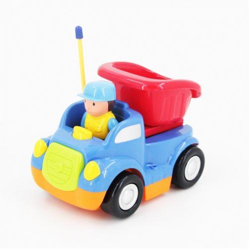 Детская синяя радиоуправляемая машина - самосвал