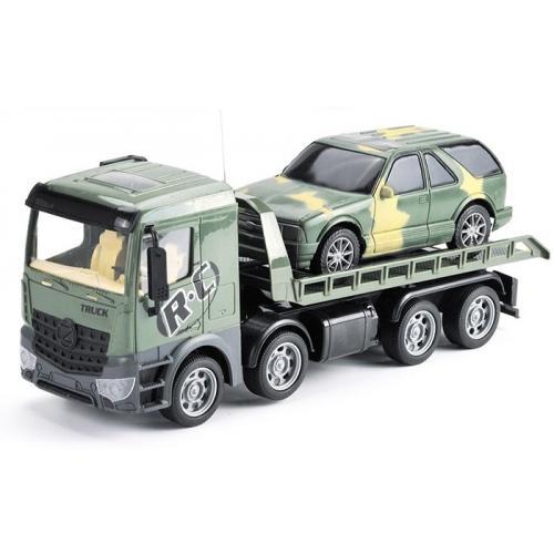 Радиоуправляемый грузовик-трейлер + джип CityTruck 1:24 - 553-B4