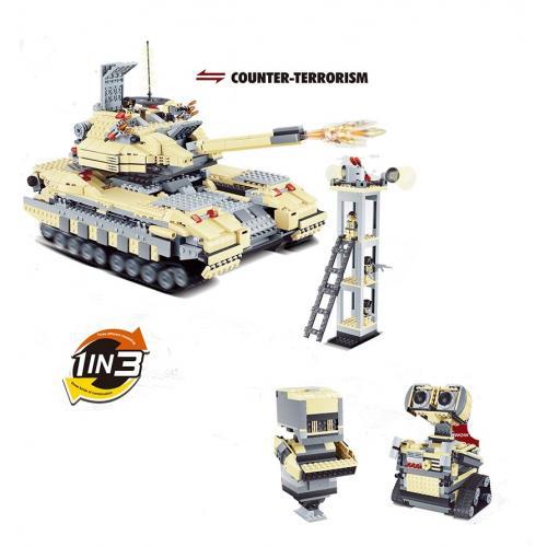 Конструктор 3в1 (танк Т-90 и два робота)