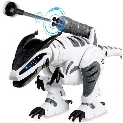 Радиоуправляемый интерактивный динозавр (стреляет присосками)
