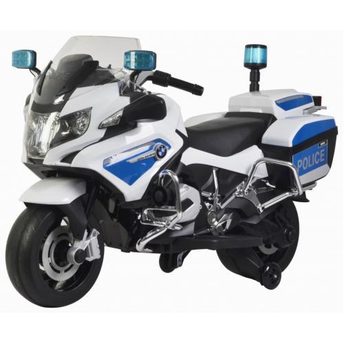 Детский полицейский электромотоцикл BMW R1200RT-P White 12V