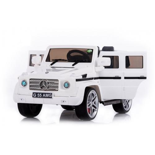 Радиоуправляемый детский электромобиль Mercedes Benz G55 White Luxury 12V 2.4G - DMD-178-LUX-W