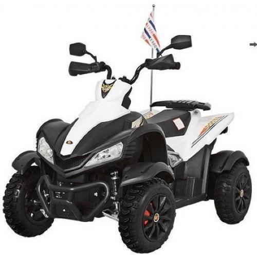 Детский электроквадроцикл Dongma ATV White 12V с кожаным сиденьем - DMD-268A-LUX-W