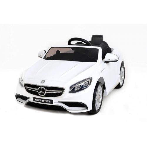 Детский электромобиль Mercedes Benz S63 белый