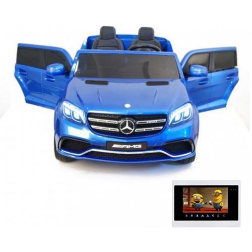 Детский электромобиль Mercedes Benz GLS63 LUXURY 4WD 12V MP4 - Blue