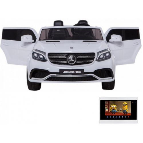 Детский электромобиль Mercedes Benz GLS63 LUXURY 4WD 12V MP4 - White - HL228-LUX-MP4