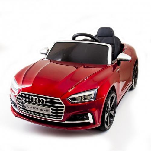 Детский электромобиль Audi S5 Cabriolet LUXURY 2.4G - Red