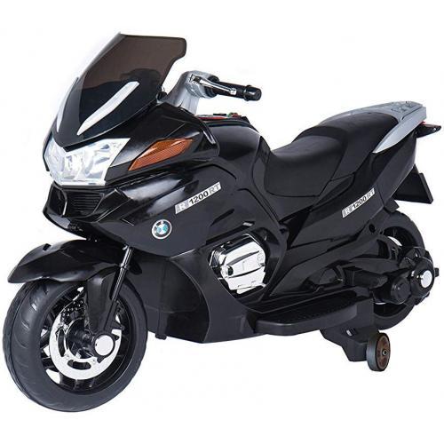 Детский электромобиль мотоцикл BMW BLACK