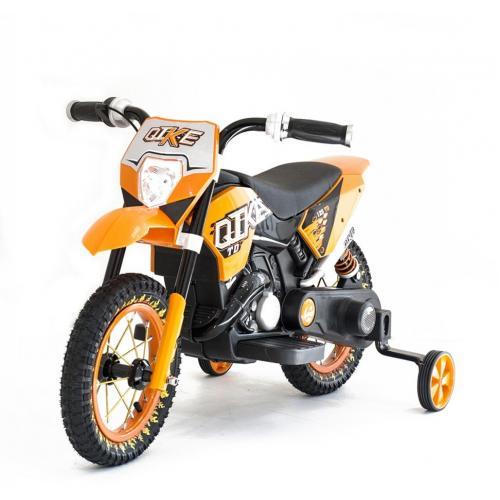 Детский кроссовый электромотоцикл Qike TD Orange 6V