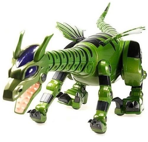 Радиоуправляемый робот динозавр Дракон (звук, 69 см)