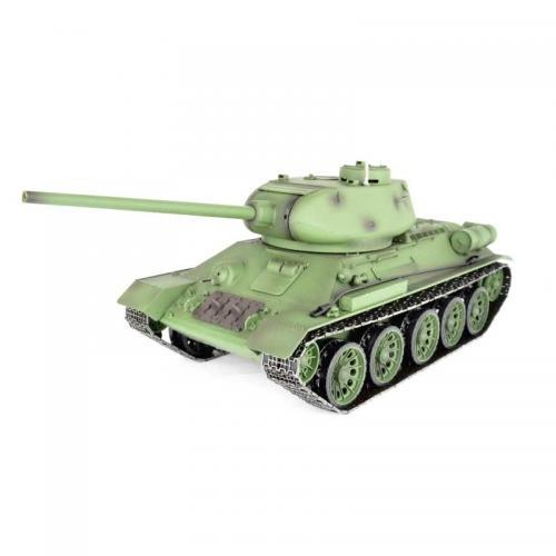 Радиоуправляемый танк T-34 85 2.4G 1:16 PRO (пневмопушка, свет, звук, дым, металл. гусеницы)
