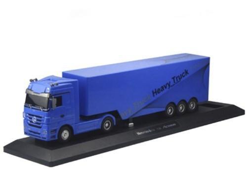 Радиоуправляемый грузовик Mercedes синий (50 см)
