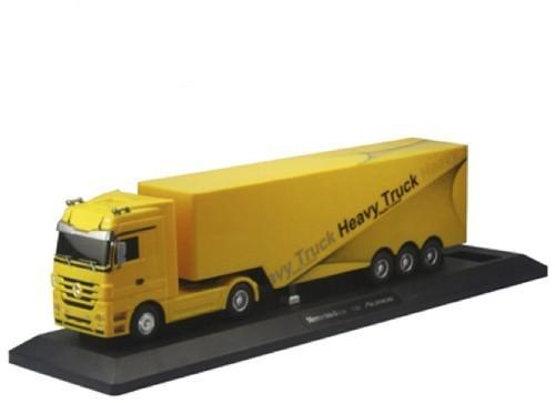 Радиоуправляемый грузовик Mercedes-Benz Actros 1:32 - QY1101-Y желтый