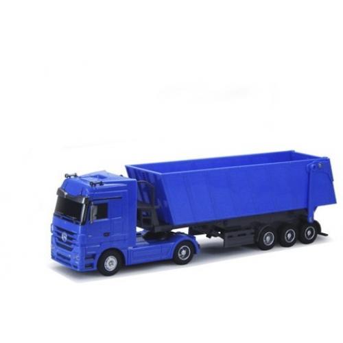 Радиоуправляемый грузовик Mercedes-Benz Actros 1:32 синий (49 см, свет фар)