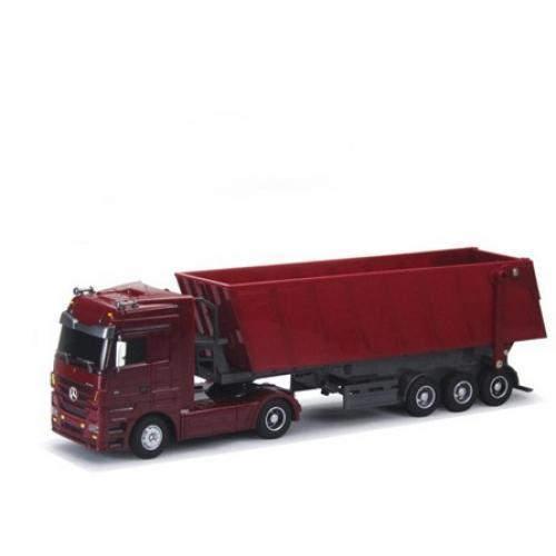 Радиоуправляемый грузовик Mercedes-Benz Actros красный (50 см, свет фар)