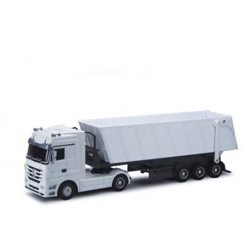Радиоуправляемый грузовик Mercedes-Benz Actros 1:32 белый (49 см, свет фар)