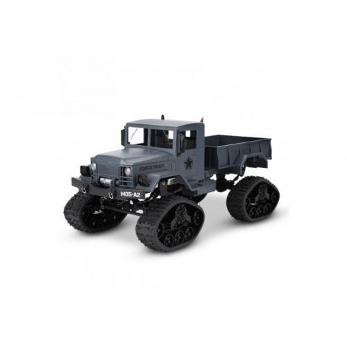 Радиоуправляемый военный грузовик на гусеницах