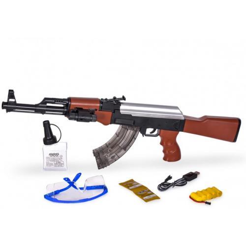 Автомат AK-47 с гелевыми пулями на аккумуляторе (2 режима стрельбы + лазер) - A47N