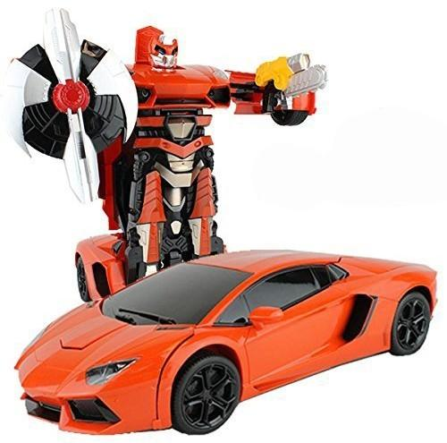 Радиоуправляемый трансформер MZ Lamborghini оранжевый