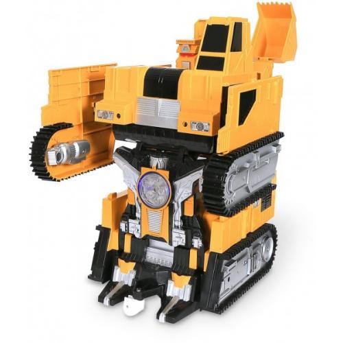 Радиоуправляемый робот-трансформер Экскаватор 1:14, стреляет присосками - 2383PF