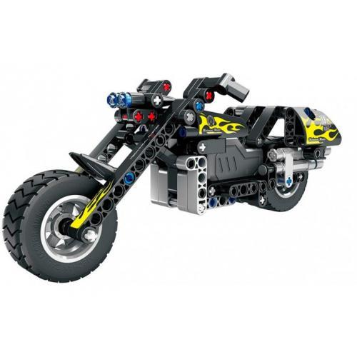 """Конструктор """"Мотоцикл"""" (инерционная модель), 183 детали"""
