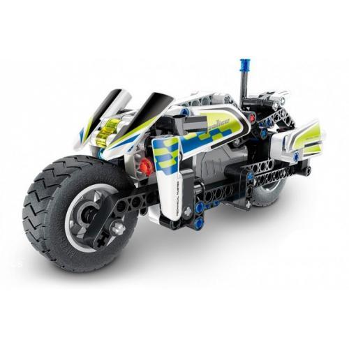 """Конструктор """"Полицейский мотоцикл"""" (инерционная модель), 193 детали"""