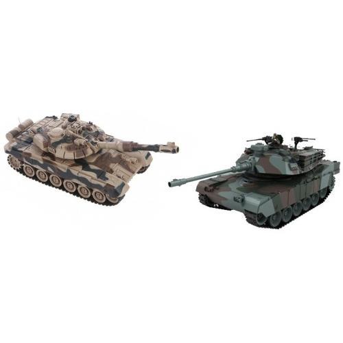 Радиоуправляемый танковый бой (советский T90 + Abrams США)