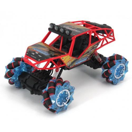 Радиоуправляемый краулер на роликовых колесах, свет, звук 2.4G красный