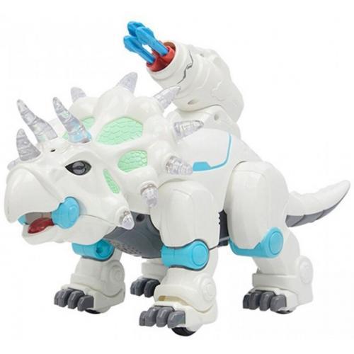 Радиоуправляемый динозавр, стреляет ракетами + дышит паром - ZYB-B3133