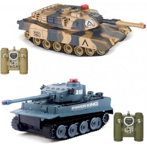Радиоуправляемый танковый бой VS Tank Huan Qi Abrams vs Tiger 1:32 2.4G