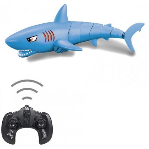 Радиоуправляемый робот Акула (синий, плавает в воде)
