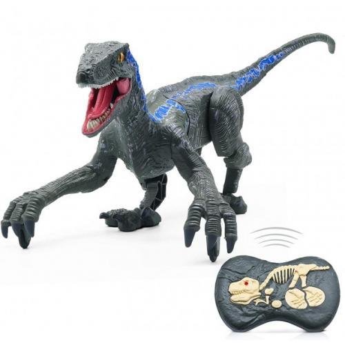 Радиоуправляемый динозавр SUNMIR Велоцираптор (зеленый), звук, свет