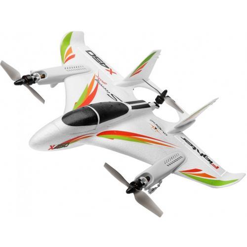 Радиоуправляемый самолет X450 VTOL 3D6G (вертикальный взлёт) 6CH EPO RTF 2.4G