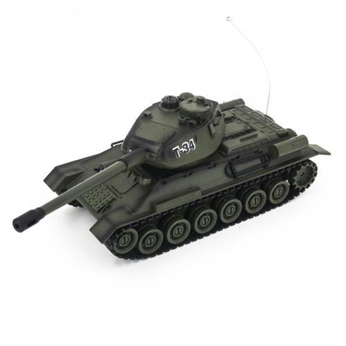 Радиоуправляемый танк Т-34 1:28 для танкового боя (ИК-пушка, 26 см)
