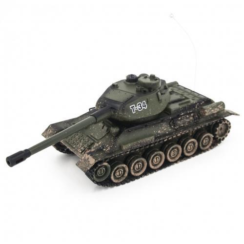 Радиоуправляемый танк Zegan Т-34 1:28 для танкового боя (ИК-пушка, 26 см)