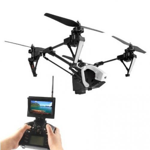 Квадрокоптер с камерой WLtoys 5.8G FPV (видео транслируется на пульт, 45 см)