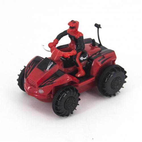 Радиоуправляемый квадроцикл-амфибия цвет красный (10 см)