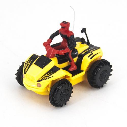 Радиоуправляемый квадроцикл-амфибия цвет желтый (10 см)