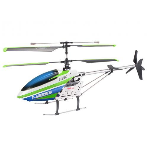 Радиоуправляемый вертолет MJX T55 (зеленый) c FPV камерой, 2.4G (71 см)