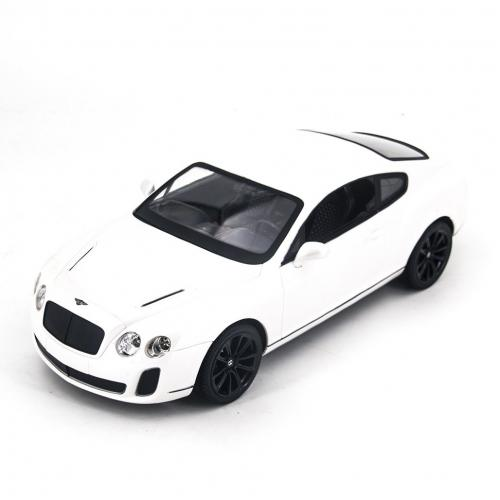 Радиоуправляемая модель машины Bentley цвет белый 1:14 (34 см)
