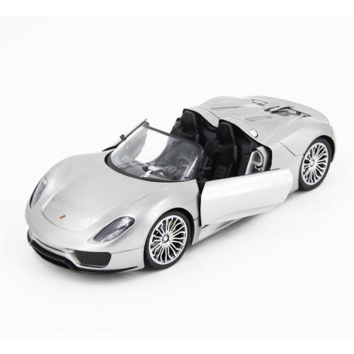 Радиоуправляемая модель машины Porsche 918 цвет серебристый 1:14 (33 см)