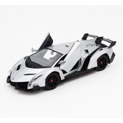 Радиоуправляемая модель машины Lamborghini Veneno, серебристый 1:14 (34 см)