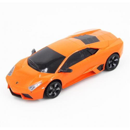 Радиоуправляемая машинка Lamborghini цвет оранжевый 1:24 (18 см, мини)