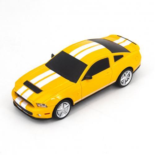 Радиоуправляемая машинка Ford Mustang цвет желтый 1:24 (18 см, мини)
