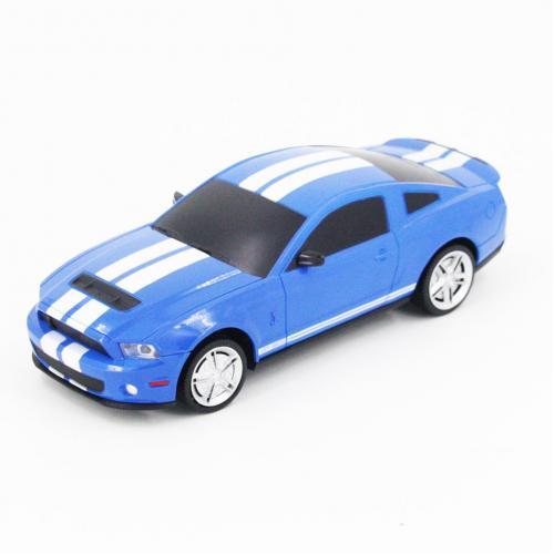 Радиоуправляемая машинка Ford Mustang цвет синий 1:24 (18 см, мини)