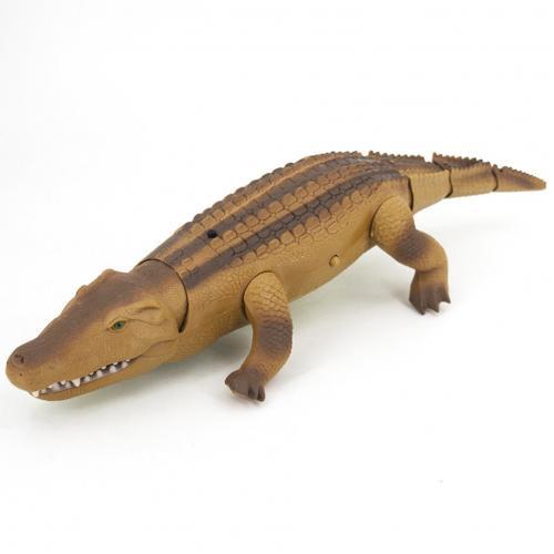 Радиоуправляемый крокодил цвет коричневый (свет. эфф. 50 см)